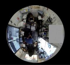 全方位監視 魚眼カメラ映像