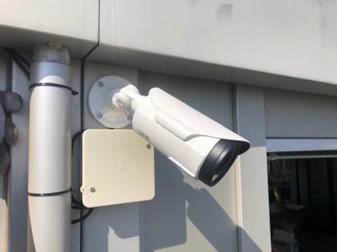 屋外防犯カメラ設置完了
