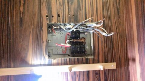 分電盤の金属カバー撤去