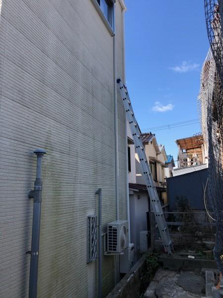 エアコン三階引き下ろし作業