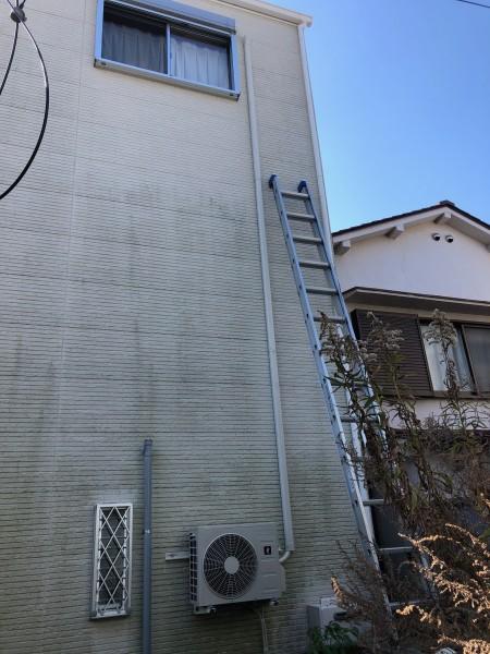エアコン室外機の壁掛け