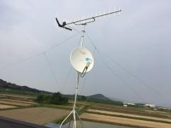 UHF+4k8k BS工事